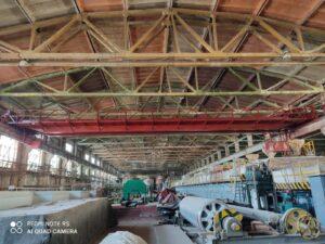 Антикоррозийная обработка мостовых кранов